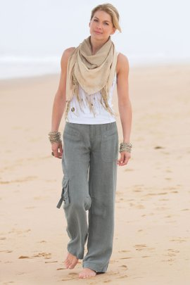 Petites Weekend Linen Pants