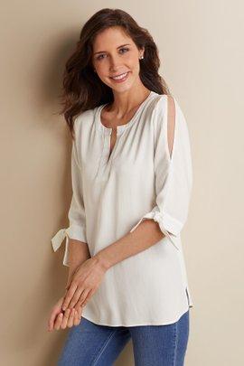 Cold Shoulder Tencel® Shirt
