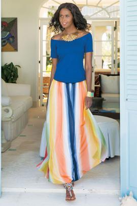 Petites Globetrotter Maxi Skirt