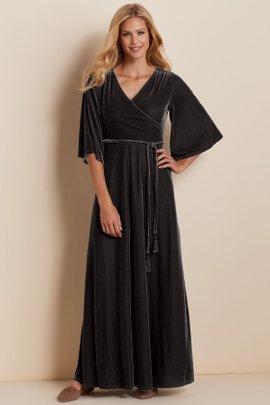 Petites Vera Velvet Wrap Dress