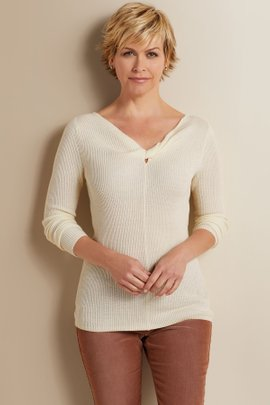 Petites Tabor Twisted Sweater
