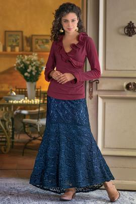 Petites Laken Lace Skirt
