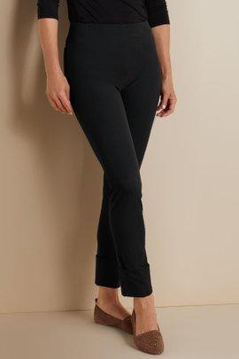 Cotton Stretch Cuff Pants