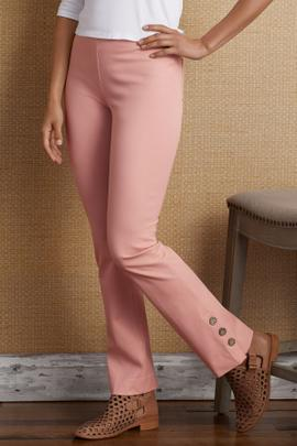 Cotton Stretch Ankle Pants