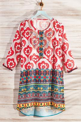 Colorful Beaded Tunic