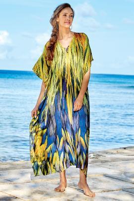 Talls Blue Quetzal Caftan