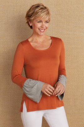 Chantal Bell Sleeve Blouse