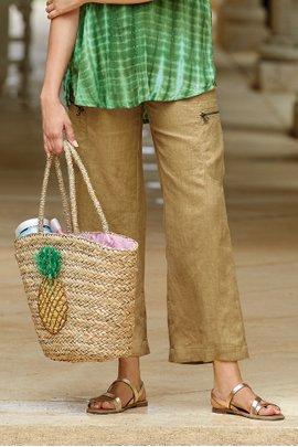 Linen Cargo Crop