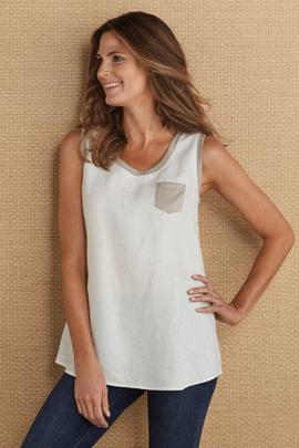 Washed Linen Tank