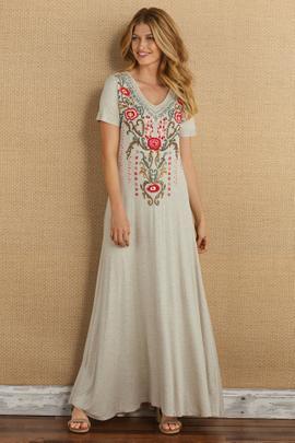 Bahia Vista Embroidered Dress