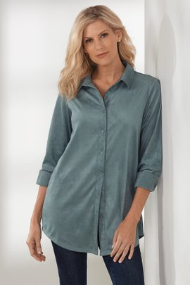 Softly Sueded Shirt