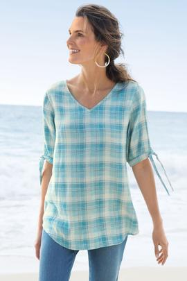 Everly Plaid Pullover
