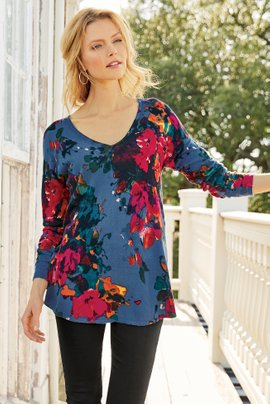 Fleur Aquarelle Sweater