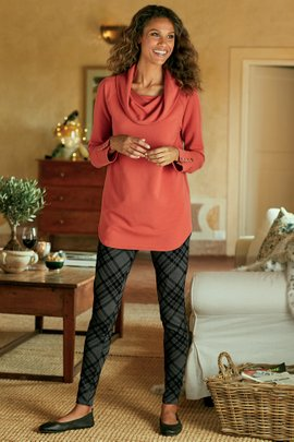 Women Shadow Plaid Leggings