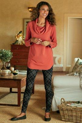 Women Shadow Plaid Leggings