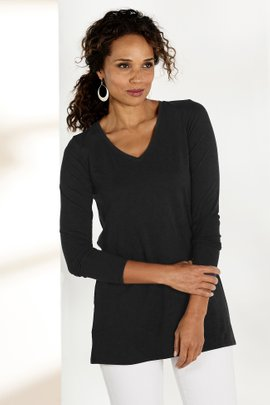 Tiffany Long Sleeve V-Neck Tee