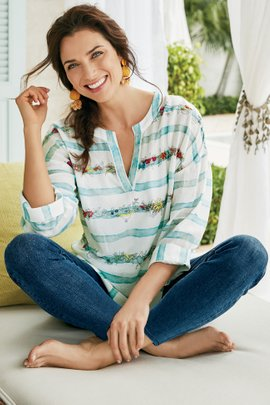 Jardin by the Sea Pullover & Cami