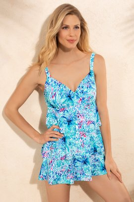 Shape Solver Floral Reef Swimdress