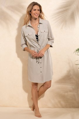 UPF 50+ Travel Cover Up Shirt Dress