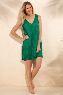 Packable Crinkle Coverup Dress