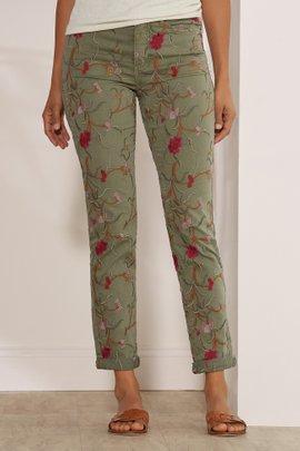Women Tesori Embroidered Denim Pants