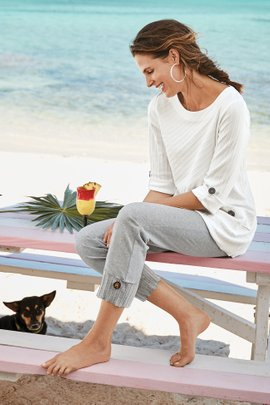 Coastal Cropped Pants