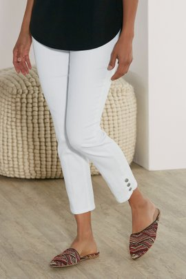 Super Stretch Button Capris