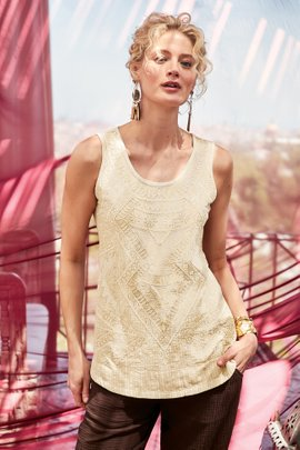 Taj Embroidered Tank