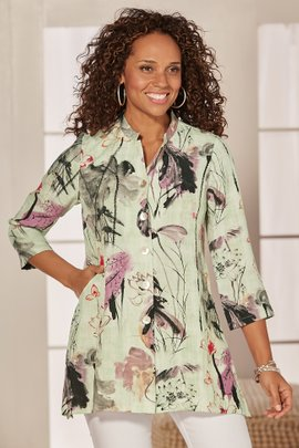 Painterly Floral Blouse