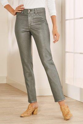 Metallic Coated Jean