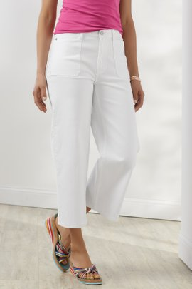 The Ultimate Wide Leg Cropped Jeans