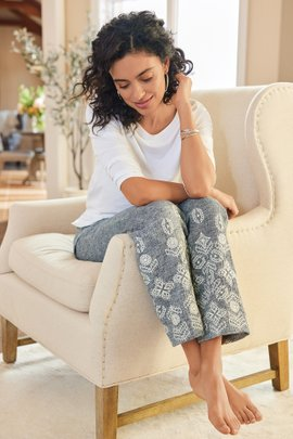 Shoreline Embroidered Pants