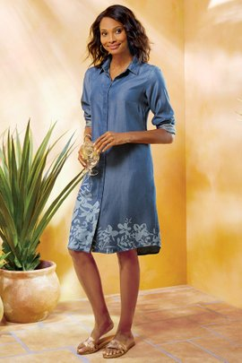 Brise Florale Shirtdress