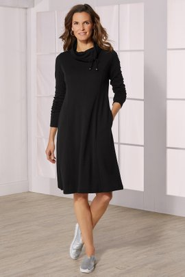 Caryn Cozy Cowl Dress