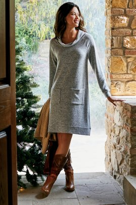 Brianne Cowl Neck Dress