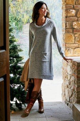 Brianne Cowl Neck Dress
