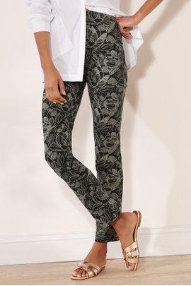 Shadow Floral Ponte Pants