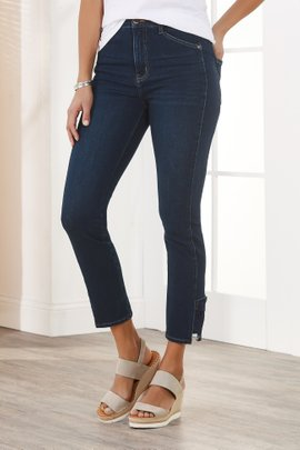 The Ultimate High Rise Lace Hem Jeans