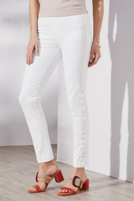 Side Lace Ankle Pants