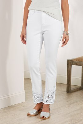 Playa Lace Cropped Pants