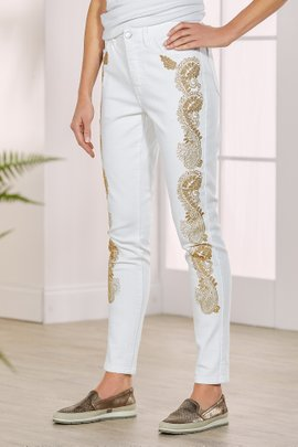 Goldleaf Embellished Denim