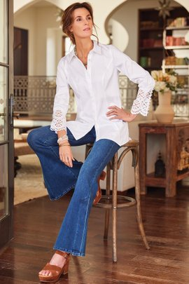 The Ultimate Flared Slit Leg Jeans