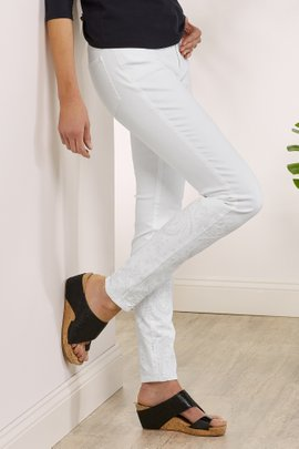 Petites The Ultimate Embroidered High Rise Skinny Jeans