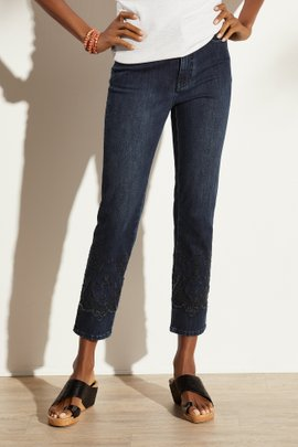The Ultimate Denim Lace-Hem Jeans