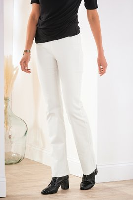 Corduroy Pull-On Bootcut Pants