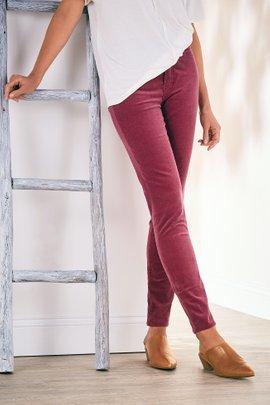 Corduroy High-Rise Skinny Pants