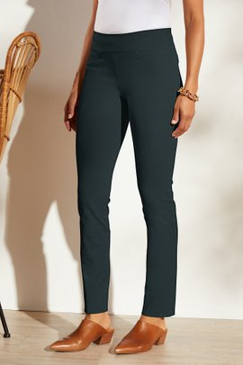 Superla Stretch Pull-On Straight Leg Pants