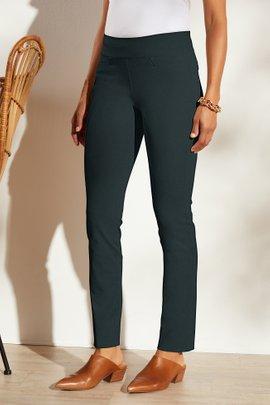 Superla Stretch Pull-On Straight Leg Pants