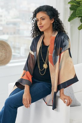 Ainsley Abstract Kimono
