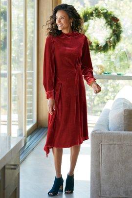 Saorise Velvet Dress